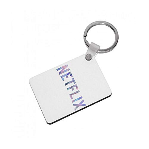Fun Cases Pink Netflix Logo Keyring