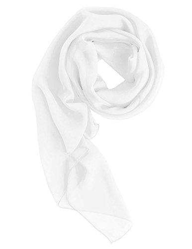 Dresstells Chiffon Schal Stola für Abendkleider in verschiedenen Farben Ivory 190cmX70cm
