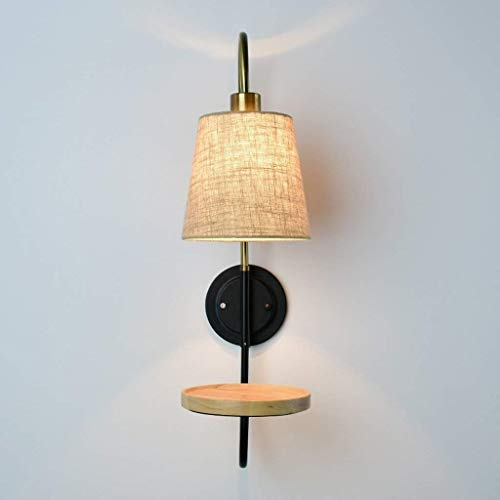 Applique murale Lampe murale à lumière extérieure E27 Chambre à coucher Tête de lit Lampe en bois murale Lampe à suspension moderne minimaliste Lampe à suspension LED Aisle Wall Lamp BY Gorkuor