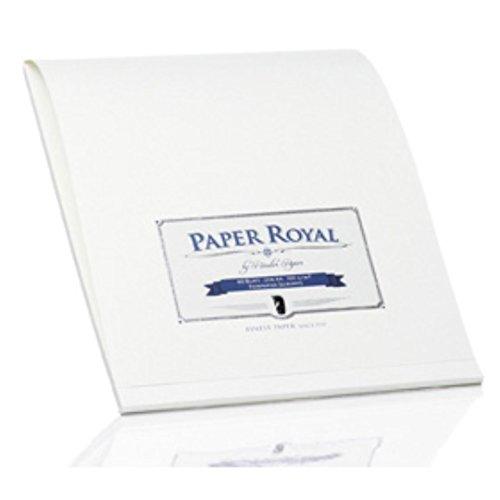 Rössler Papier - Paper Royal - Briefblock (40 Blatt, DIN A4) weiß gerippt (Gerippte)