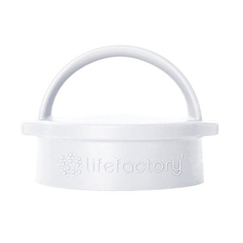 Cap Deckel (Lifefactory 17792 Dishwasher Safe Classic Cap Glas-Trinkflaschen (350ml, 475ml und 650ml), weiß, plastik,)