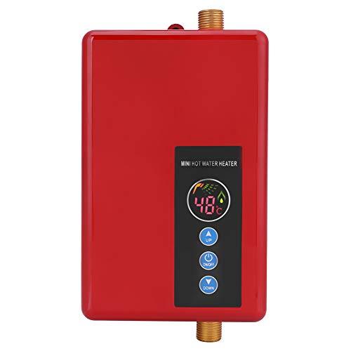 Fdit 5500W Calentador de Agua Eléctrico Instantáneo Grifo Sin Tanque Calentamiento Calentador...