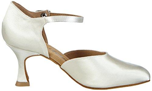 Diamant Diamant Brautschuhe Standard Tanzschuhe 051-085-092, Chaussures de Danse de salon femme Blanc - Blanc