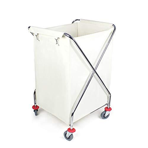Carros almacenamiento Cesta lavandería Plegable Ruedas