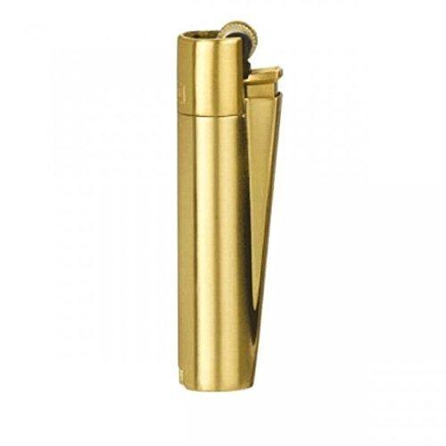 1 Clipper Acero Terminacion dorada mate. tamaño normal. en caja metalica para regalo.