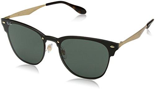 Ray-Ban RAYBAN Unisex-Erwachsene Sonnenbrille 3576n Gold Striped/Graygreen, 47