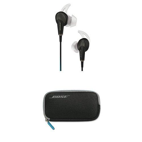 Bose QuietComfort 20 Ecouteurs à réduction de bruits pour appareils Samsung et Android Noir + Étui de transport pour casque QuietComfort 20 Noir