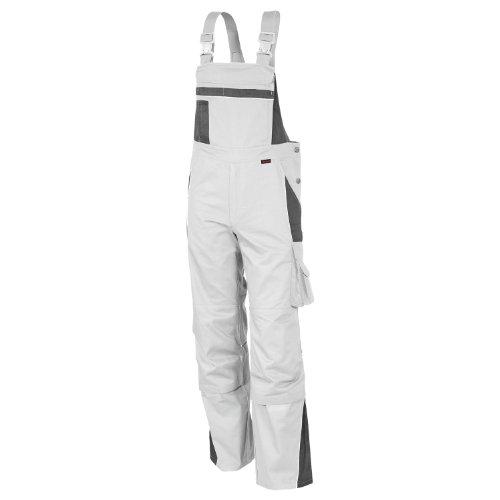 Qualitex Latzhose PRO 65% PES/35% CO,245 G/M² Farbe Weiss/GRAU Größe 26