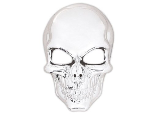 Alsino Totenkopfmaske Vendetta Maske Karneval Saw Fasching Maske Blue Mask Kostüme Geist, wählen:Totenkopf Silber (Silber Maske Kostüm)