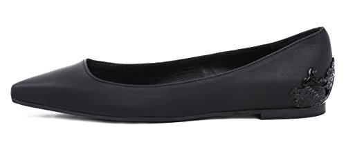 McQ ALEXANDER McQUEEN BALLERINE ADA EDGE LEATHER BLACK 37