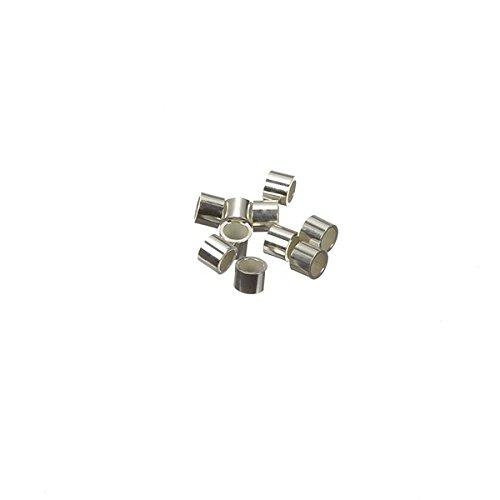 Argento Sterling 925Crimp tubi 2x 1,5mm, confezione da 10