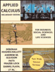Applied Calculus for Business, Social Sciences and Life Sciences: Preliminary Edition with Answers