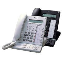 Panasonic KX-T7630NE-B Systemtelefon mit EHS schwarz