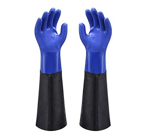 YANQ Handschuhe Wash Scrubber PVC Beschichtet Handschuh mit Baumwolle Liner, Heavy Duty Latex Handschuhe -