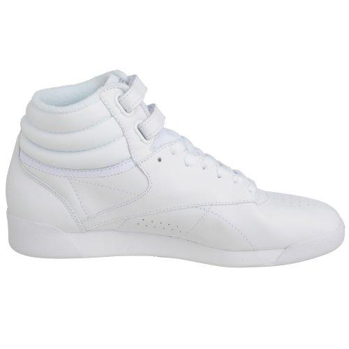Reebok Freestyle Hi, Sneakers Hautes Mixte adulte Blanc Cassé (White/silver)
