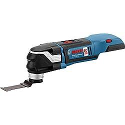 Bosch Professional Click&Go 06018B6001 Découpeur-Ponceur sans-fil GOP 18 V-28 Solo, L-Boxx