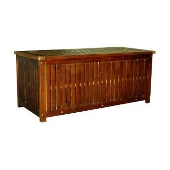 kissenbox aus akazienholz garten. Black Bedroom Furniture Sets. Home Design Ideas
