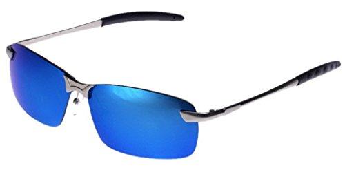 Lukis 1x Wayfarer Sonnenbrille Herren Brille UV-Schutz Clubmaster (Blau)