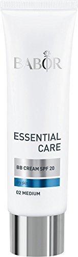 BABOR ESSENTIAL CARE BB Creme 02 medium, zart getönte Gesichtscreme mit LSF 20, für die tägliche Pflege, kaschiert Unebenheiten, vegan, 50ml