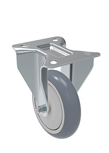 Non-Marking Thermoplastic PVC Precision Ball Bearing Wheel 12 mm Diameter x 50 mm Length Threaded Stem 250 lb Schioppa GLEHH 512 BPE L12 Series 5 x 1-1//4 Diameter Swivel Caster