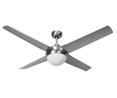 Dach-klimaanlagen (LUCCI AIR Deckenventilator, Altitude Eco, Indoor und Outdoor, inklusive Fernbedienung, silber 210825)