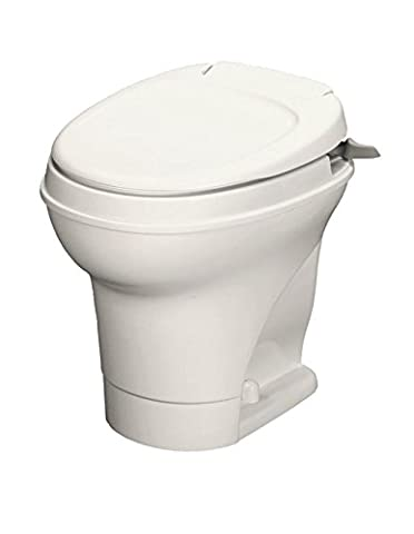 Thetford 31668 Aqua-Magic V Toilet, High / Hand Flush / Parchment by Thetford