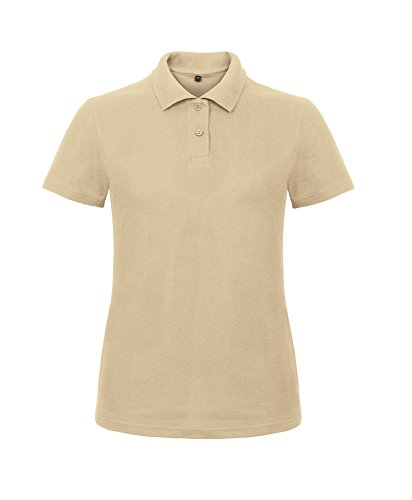 B&C Collection - Polo - Femme Beige - Sable