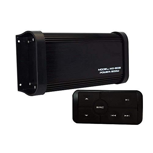 Herdio 4 Kanal Marine Bluetooth Verstärker Stereo Wasserdichte Audio USB-Ladegerät Mp3-Player Aux Rca 500 Watt Audio Sound System Mit Lenker Controller Schwarz
