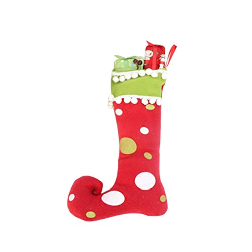 Kongqiabona Christmas Stockings Socks Ornament Gift Boots Xmas Pendant New Year Candy Box Home Market Store Decoration (Nightmare Stocking Christmas Before)