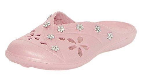 cleostyle Donna Ciabatte Pantofole Zoccoli con Alla Moda Pietre PREZIOSE CL 78 Rosa