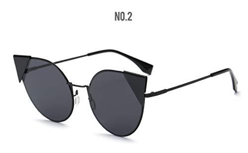DAIYSNAFDN Mode Cat Eye Sonnenbrillen Frauen Vintage Sonnenbrillen Damenmode Brillen C2