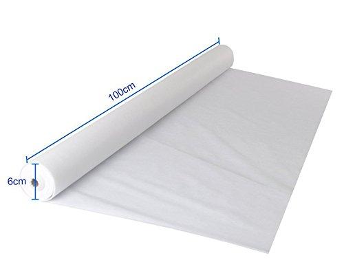FUNTELL Tischdeckenrolle weiß,Oeko-TEX 100,Tischtuch Meterware Tischwäsche, stoffähnliches Vlies,...