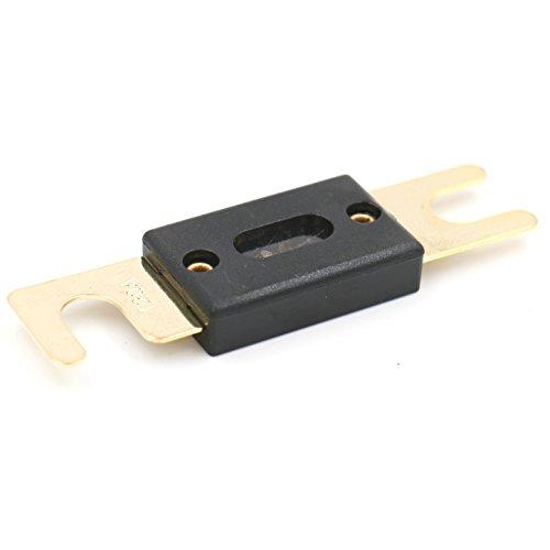 Heschen ANL FUSE Anl-120 120 Amp pour auto Véhicules Système audio Feuille Doré et Noir Lot de 2