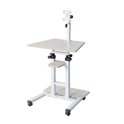 SogeHome verstellbares Stand-Up-Schreibtisch 60x45cm mit Rollen Mobiler Laptop-Computer...