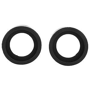 Okularabdeckung, 2 Stück, 36 mm Durchmesser, Gummi-Okularabdeckung, Zubehörschutz für Stereomikroskope(Flacher Winkel)