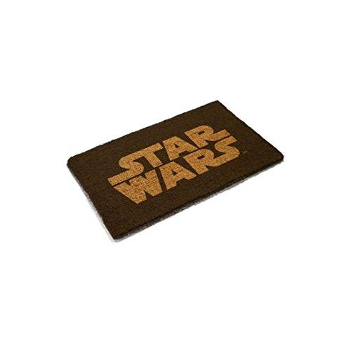 SD toys Felpudo Diseño Star Wars, Fibra De Coco, Negro, Decoración d