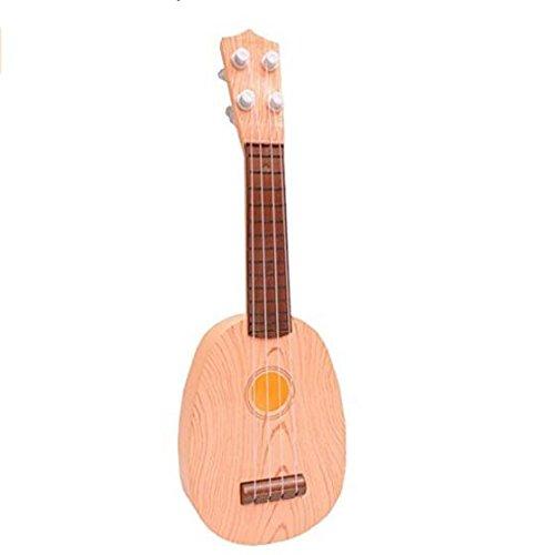 tykusm Kreative Kinder Mini-Gitarre Spielzeug-Instrument, die Bildung von Ukulele (Holz Farbe)