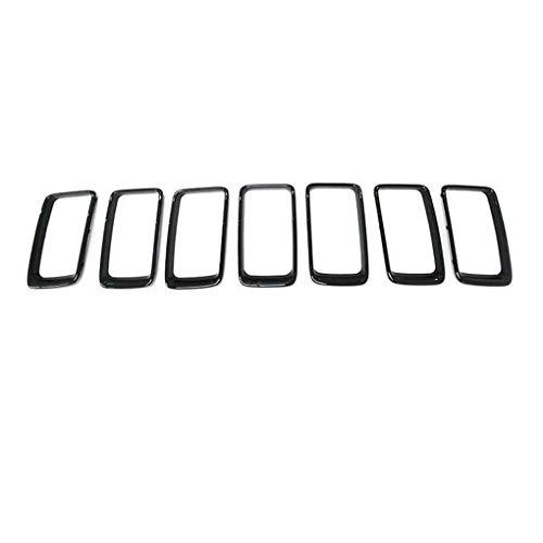 Censhaorme 7PCS Nichtrostender ABS Front Grille Entlüftungsbohrung Borte Ring Einsätze Abdeckung für Jeep Grand Cherokee 14-2016 Auto Dekoration