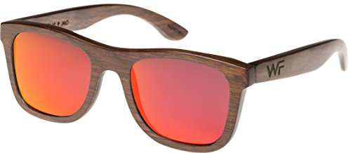 Wood Fellas Unisex Holz-Sonnenbrille Jalo Mirror brown/red One