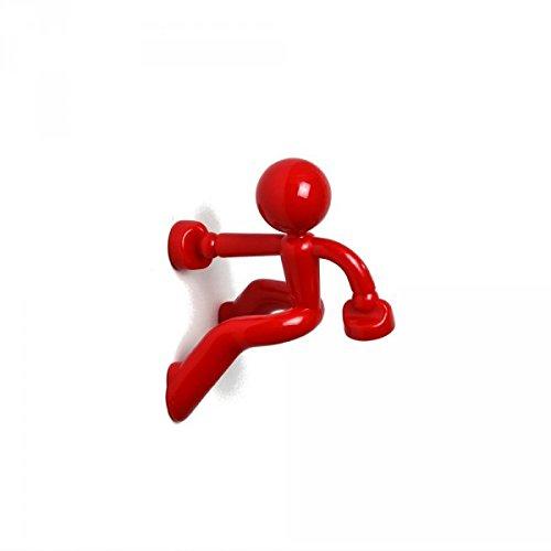MTS Magnete Schlüsselanhänger, Kletterfigur, mit 2 Neodym-Magneten rot