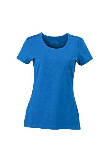 JAMES & NICHOLSON T-shirt Ladies Urban - T-shirt de Maternité - Femme Bleu (Azur)