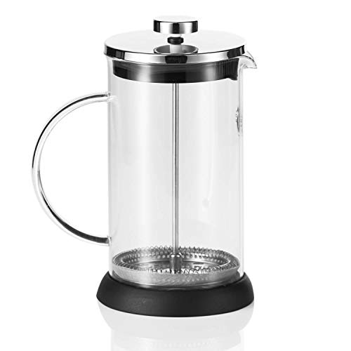Coffee Fox French Press aus Glas Kaffeezubereiter Pressfilterkanne Kaffeebereiter