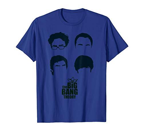 Big Bang Theory Logo Group Hair (The T-shirt Theory Big Bang Frauen)