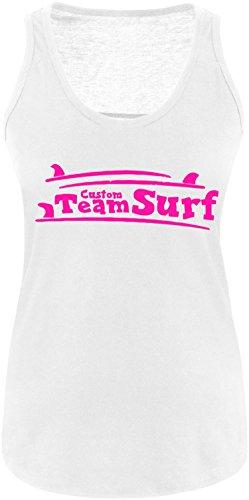 EZYshirt® Team Custom Surf Damen Tanktop Weiss/Pink