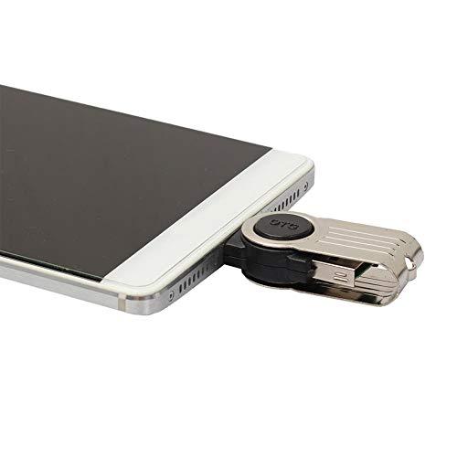 Micro USB OTG zu USB 2.0 Adapter SD/Micro SD Kartenleser mit Standard USB Male & Micro USB Male Anschluss für Smartphones/Tablets mit OTG Funktion, Pcs und Notebooks