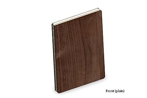 Couverture en Bois Véritable de Noyer Luxe A5 Bloc-notes / Livre de Croquis