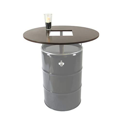 *Rogge´s RelaxGrill Runde Tischplatte mit Ausschnitt, d = 100cm, 21mm Multiplex, geölt, für 210L Ölfass als Stehtisch, Öltonne, Tonne, Fass, Feuertonne, Stahlfass*