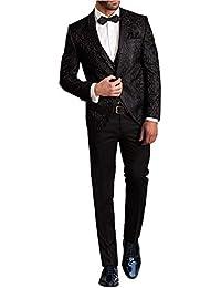 f2ab270934fe Suit Me Herren Slim Fit 3 Teilig Muster Smoking Hochzeiten Anzug Suits  Tuxedos Sakkos Weste Hose
