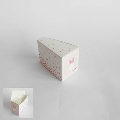 Bomboniera scatola fetta torta confetti minnie disney rosa set 20 pz art 68064