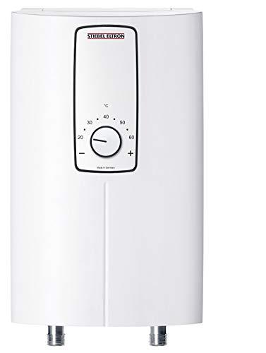 Stiebel Eltron DCE 11/13 H, elektronisch geregelter Kompakt-Durchlauferhitzer, wählbare Leistung 11 oder 13,5 kW, weiß, 232792 [Energieklasse A]